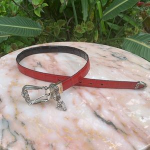 Brighton reversible red and black belt